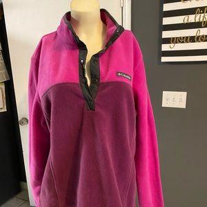 Columbia  Fleece Pullover Purple Pink Jacket  XL